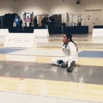 Fencing actions in slow-motion
